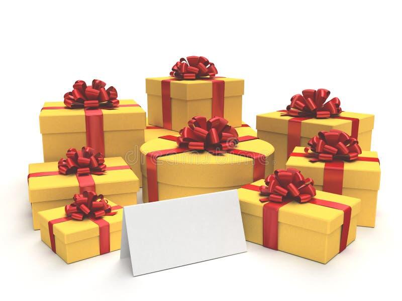 κενά δώρα καρτών απεικόνιση αποθεμάτων