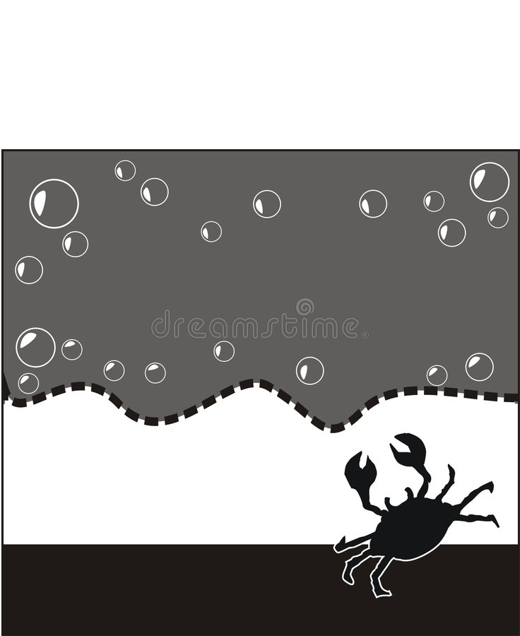 Download κενά θαλασσινά αγγελιών απεικόνιση αποθεμάτων. εικόνα από καβούρι - 122382