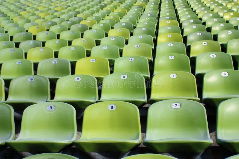 Κενά καθίσματα σταδίων στοκ εικόνες