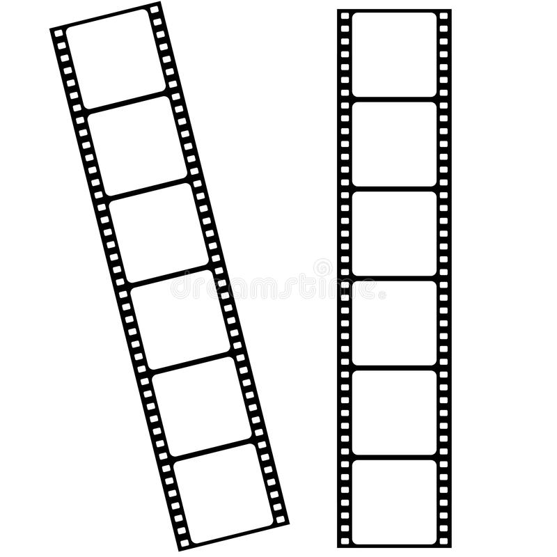 Κενά πλαίσια λουρίδων ταινιών κινηματογράφων με το κενό διάστημα για τη φωτογραφία α απεικόνιση αποθεμάτων