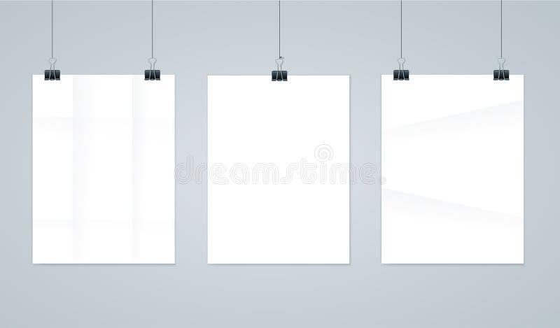 Κενά πλαίσια φωτογραφιών εγγράφου ή πρότυπα αφισών διάνυσμα διανυσματική απεικόνιση