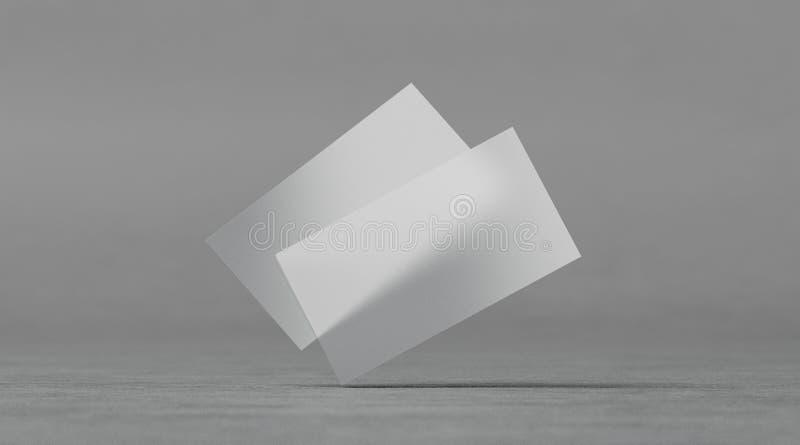 Κενά πλαστικά διαφανή πρότυπα επαγγελματικών καρτών, απεικόνιση αποθεμάτων