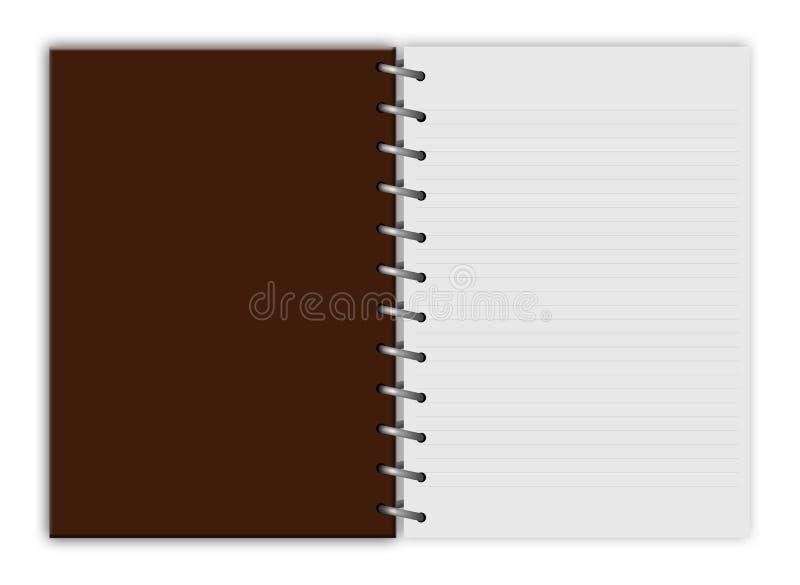 Κενά σημειωματάριο & x28 notebook& x29  απομονωμένος ελεύθερη απεικόνιση δικαιώματος