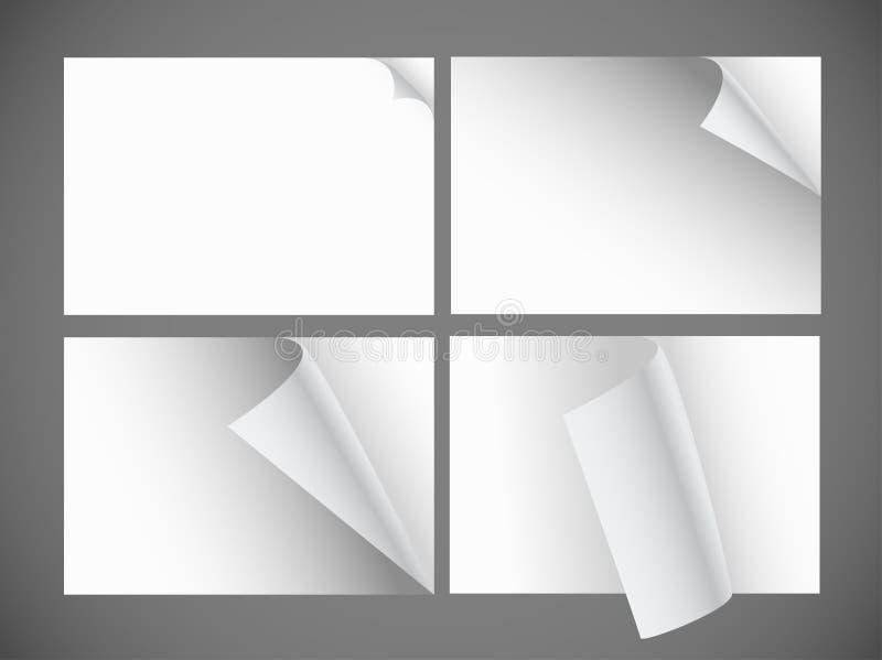 Κενά φύλλα εγγράφου διανυσματική απεικόνιση