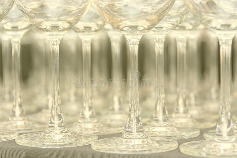 Κενά Goblets νερού στοκ εικόνες με δικαίωμα ελεύθερης χρήσης