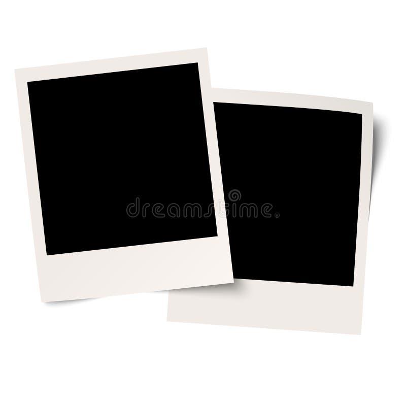 Κενά polaroids στο άσπρο υπόβαθρο απεικόνιση αποθεμάτων