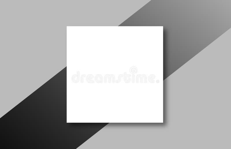 Κενές άσπρες αφίσες στο γκρίζο υπόβαθρο απεικόνιση αποθεμάτων