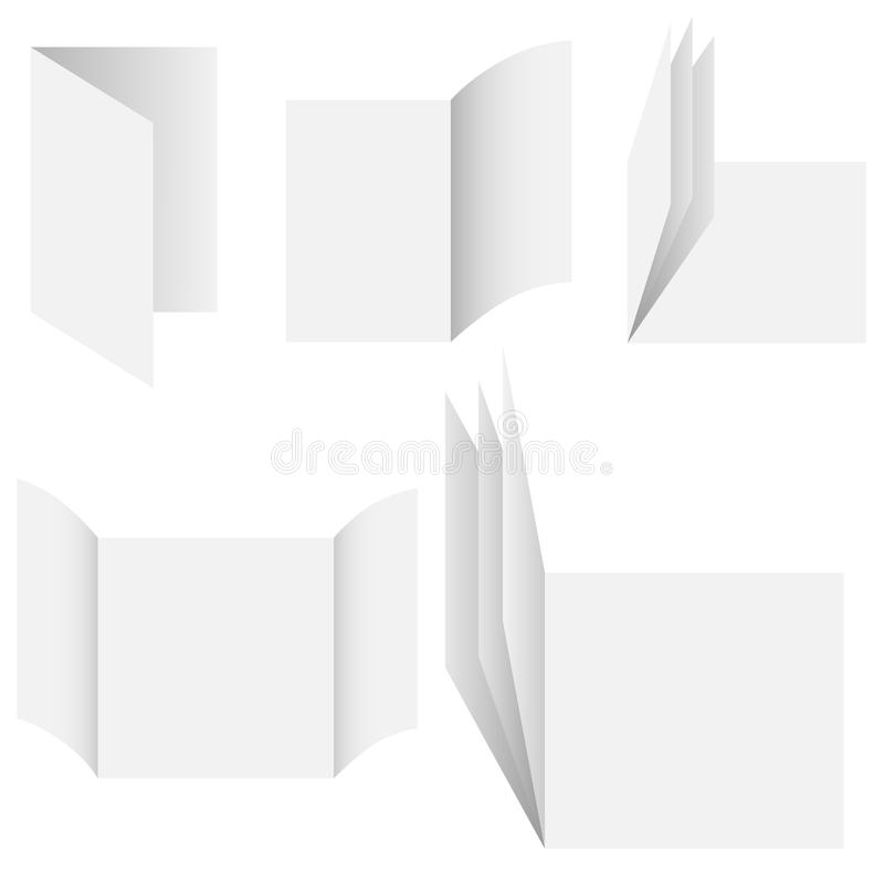 Κενές κάρτες εγγράφων στοκ εικόνα με δικαίωμα ελεύθερης χρήσης