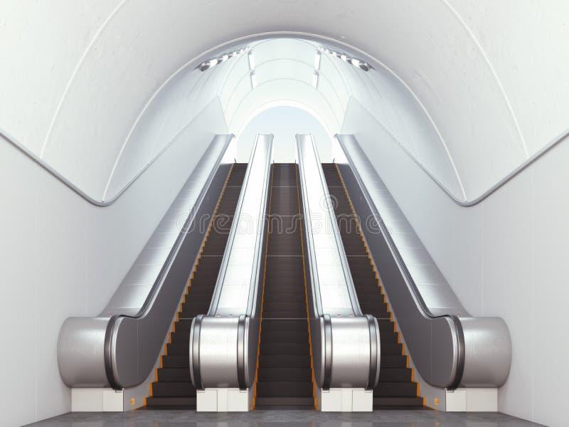 Κενές μακριές κυλιόμενες σκάλες στοκ φωτογραφίες με δικαίωμα ελεύθερης χρήσης