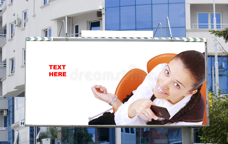 κενές νεολαίες γυναικών πινάκων διαφημίσεων στοκ φωτογραφίες με δικαίωμα ελεύθερης χρήσης