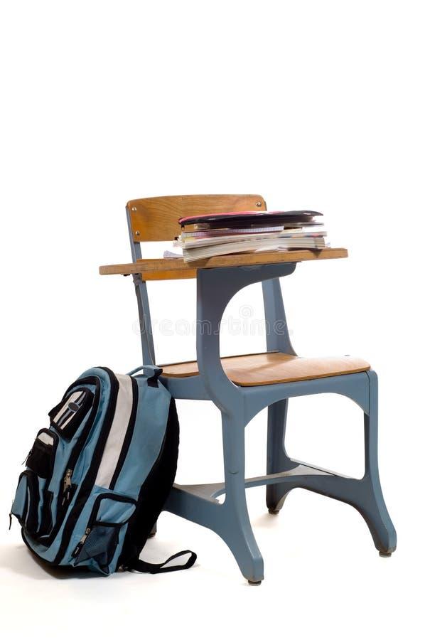 κενές σχολικές προμήθει&ep στοκ φωτογραφία
