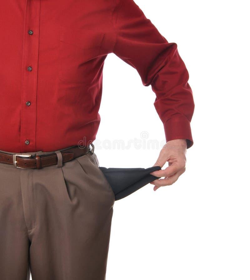 κενές τσέπες στοκ φωτογραφία με δικαίωμα ελεύθερης χρήσης