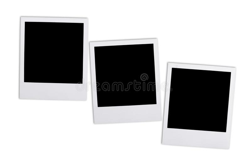 Κενές φωτογραφίες στο υπόβαθρο της Λευκής Βίβλου στοκ φωτογραφίες