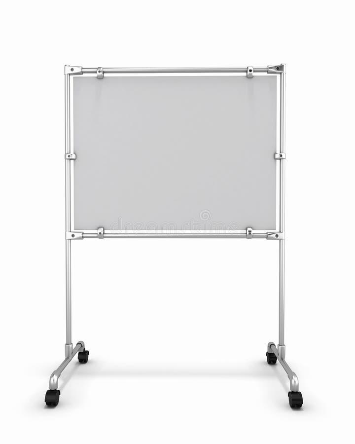 Κενή άσπρη μπροστινή άποψη πινάκων γραφείων ελεύθερη απεικόνιση δικαιώματος
