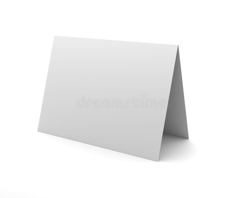Κενή άσπρη παρουσίαση γραφείων στην άσπρη ανασκόπηση διανυσματική απεικόνιση