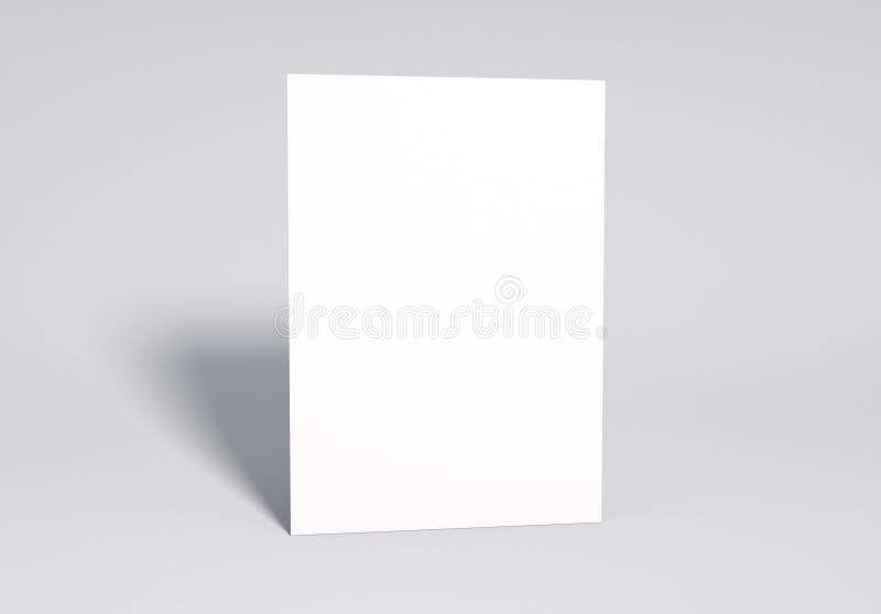 Κενή άσπρη χλεύη σελίδων επάνω, τρισδιάστατη απόδοση στοκ εικόνα με δικαίωμα ελεύθερης χρήσης
