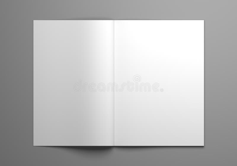 Κενή ανοικτή τρισδιάστατη απεικόνιση προτύπων περιοδικών απεικόνιση αποθεμάτων