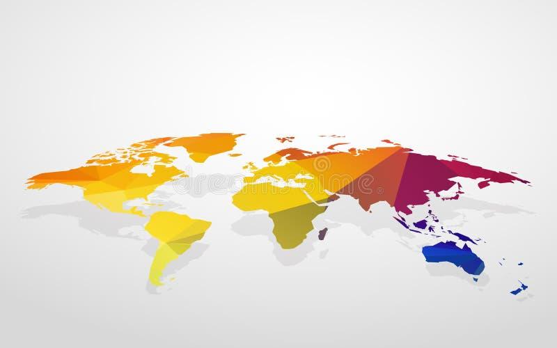Κενή απομίμηση παγκόσμιων χαρτών χρώματος τρισδιάστατη ελεύθερη απεικόνιση δικαιώματος