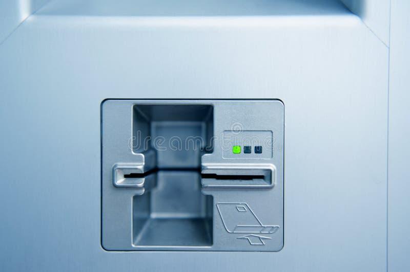 Αυλάκωση σημείου μετρητών του ATM στοκ εικόνες