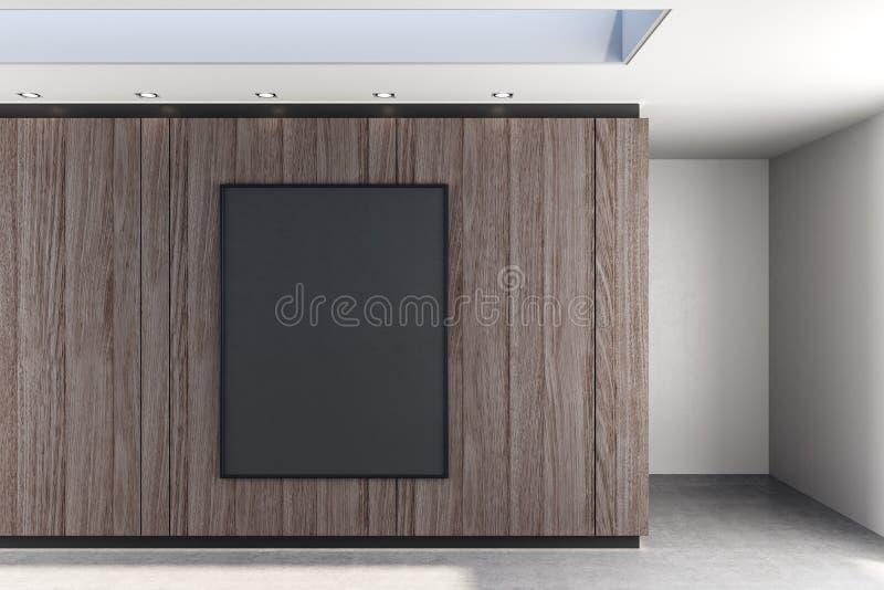 Κενή αφίσα στην αφηρημένη αίθουσα στοκ φωτογραφία με δικαίωμα ελεύθερης χρήσης