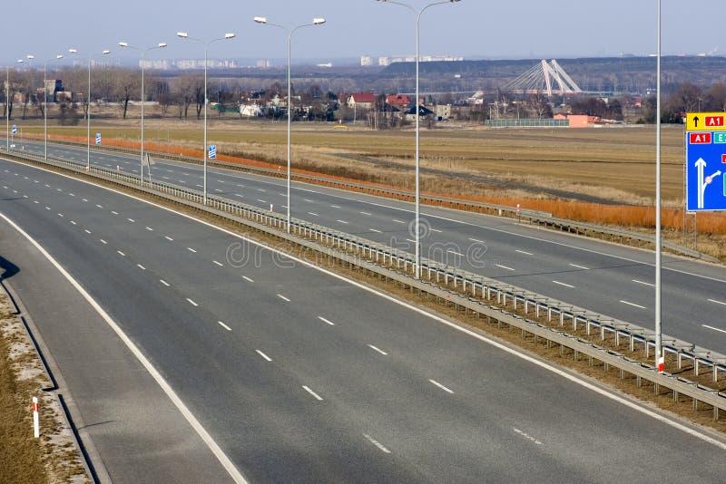 κενή εθνική οδός στοκ εικόνα