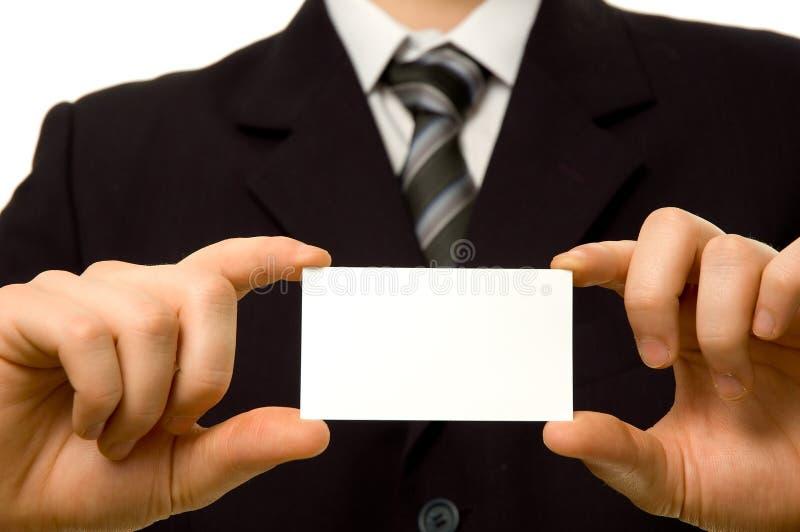 κενή εκμετάλλευση καρτών επιχειρησιακών επιχειρηματιών στοκ εικόνα