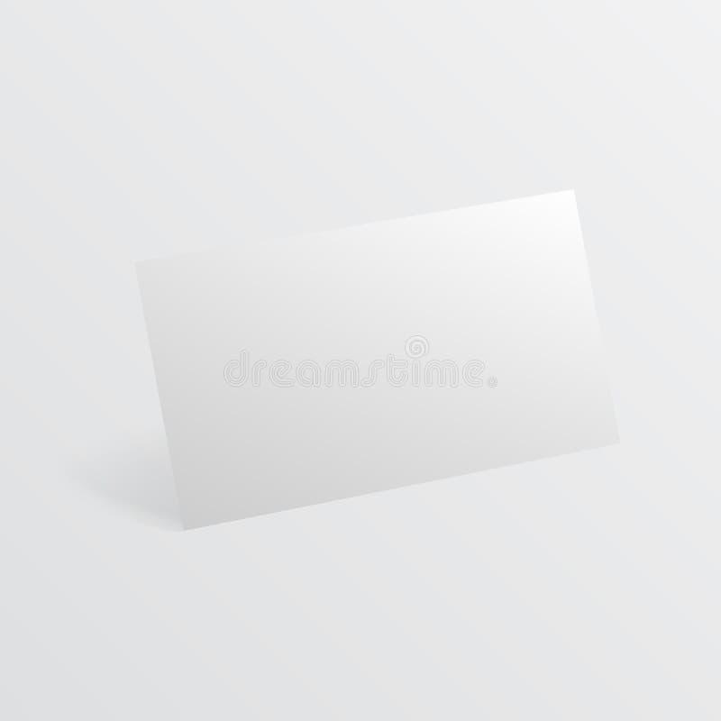Κενή επαγγελματική κάρτα με το πρότυπο σκιών επίσης corel σύρετε το διάνυσμα απεικόνισης Κενό οριζόντιο πλαστικό, επαγγελματική κ ελεύθερη απεικόνιση δικαιώματος