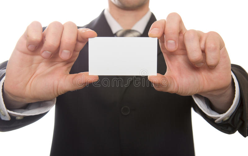 κενή επαγγελματική κάρτα  στοκ φωτογραφία με δικαίωμα ελεύθερης χρήσης