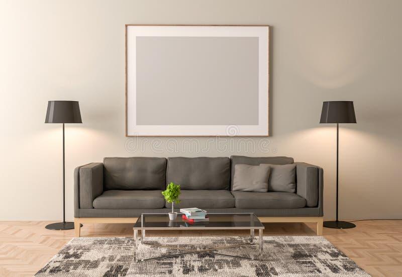 Κενή εσωτερική χλεύη πλαισίων εικόνων επάνω διανυσματική απεικόνιση