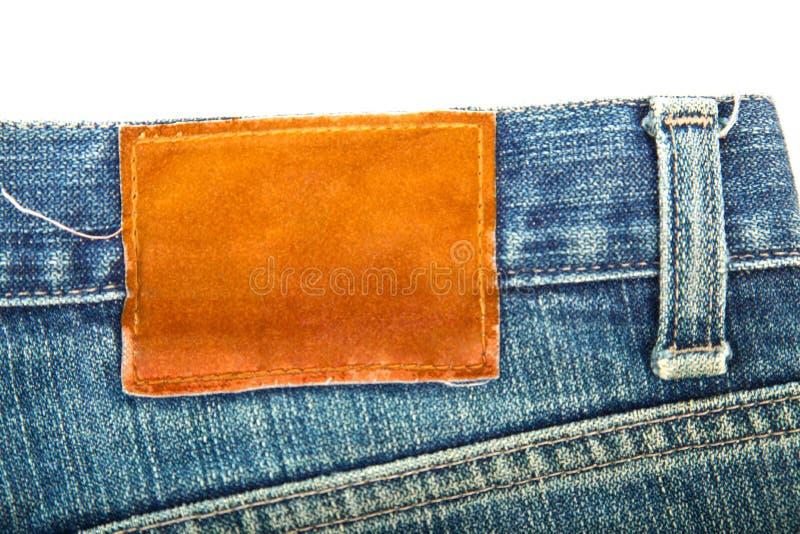 κενή ετικέτα τζιν παντελόνι χρησιμοποιούμενη στοκ εικόνες με δικαίωμα ελεύθερης χρήσης