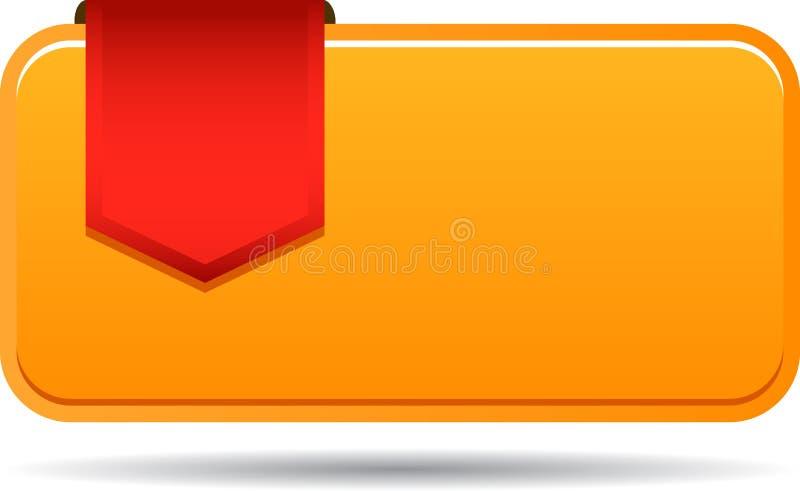 Κενή ετικέττα πωλήσεων με την κορδέλλα ελεύθερη απεικόνιση δικαιώματος
