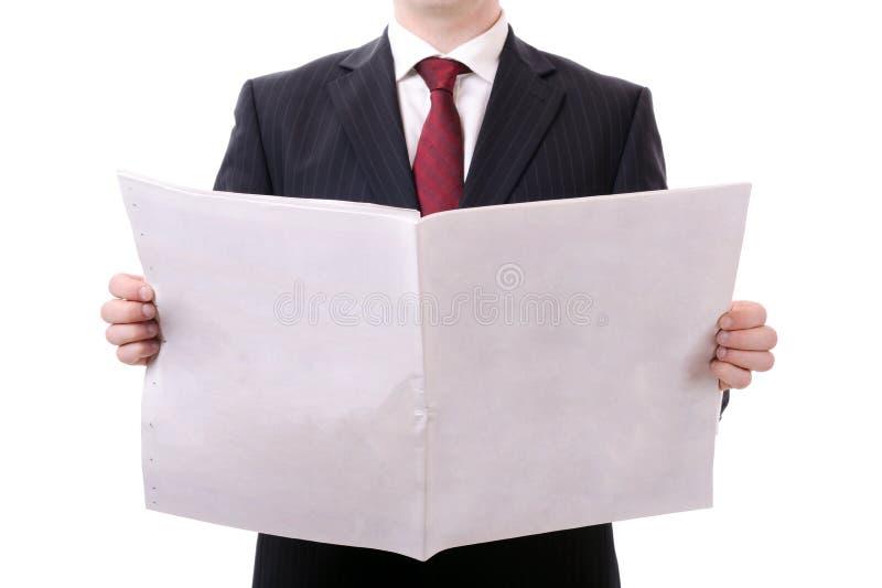 Κενή εφημερίδα στοκ εικόνες