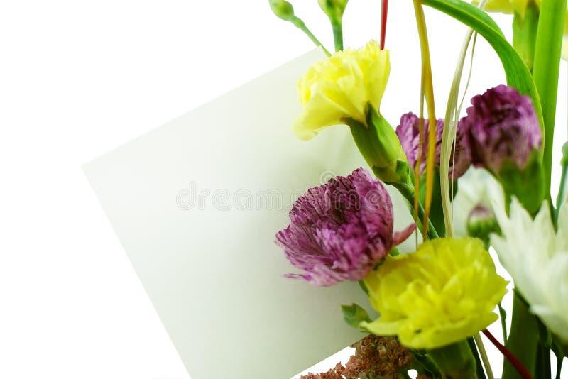 κενή κάρτα ανθοδεσμών στοκ εικόνες με δικαίωμα ελεύθερης χρήσης