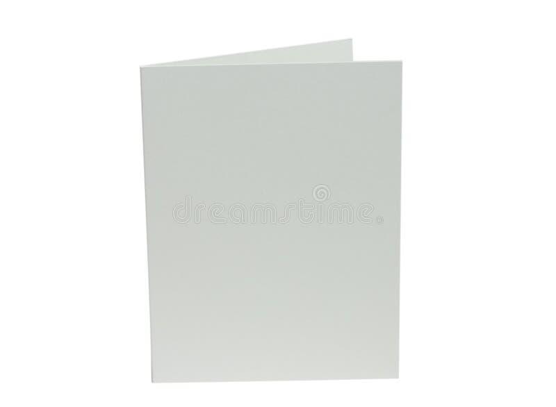 κενή κάρτα από το λευκό στοκ φωτογραφία με δικαίωμα ελεύθερης χρήσης