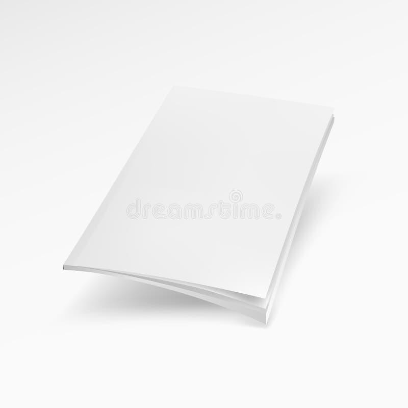 Κενή κάλυψη του περιοδικού, βιβλίο, βιβλιάριο, φυλλάδιο Χλεύη επάνω στο πρότυπο έτοιμο για το σχέδιό σας απεικόνιση αποθεμάτων