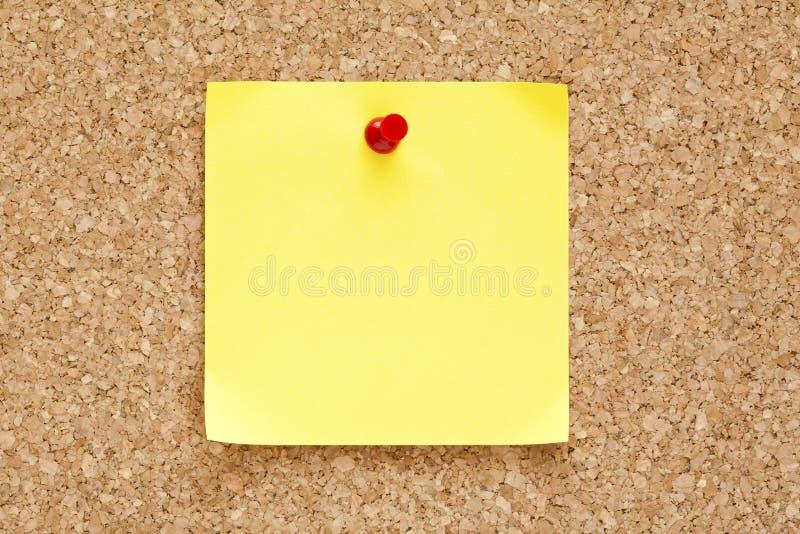 Κενή κίτρινη κολλώδης σημείωση στοκ φωτογραφίες με δικαίωμα ελεύθερης χρήσης