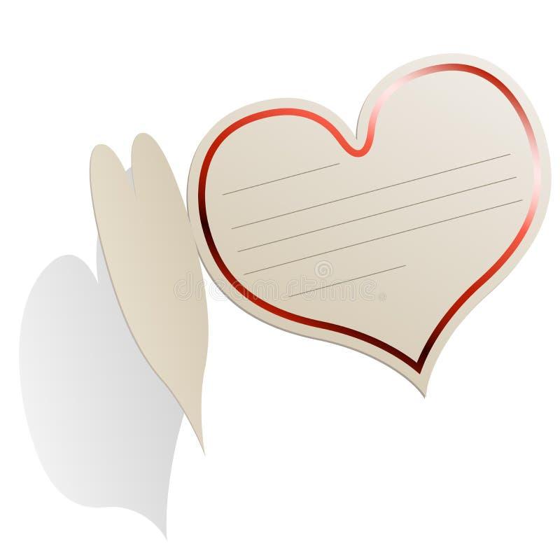 κενή καρδιά καρτών που δια& διανυσματική απεικόνιση