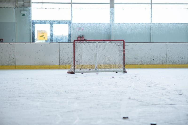 Κενή κατάρτιση χόκεϋ πάγου καθαρή στοκ εικόνες