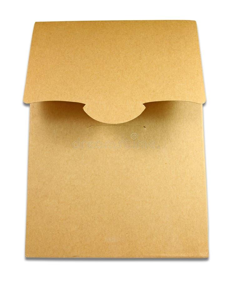 κενή καφετιά απομονωμένη συσκευασία κιβωτίων στοκ φωτογραφία με δικαίωμα ελεύθερης χρήσης