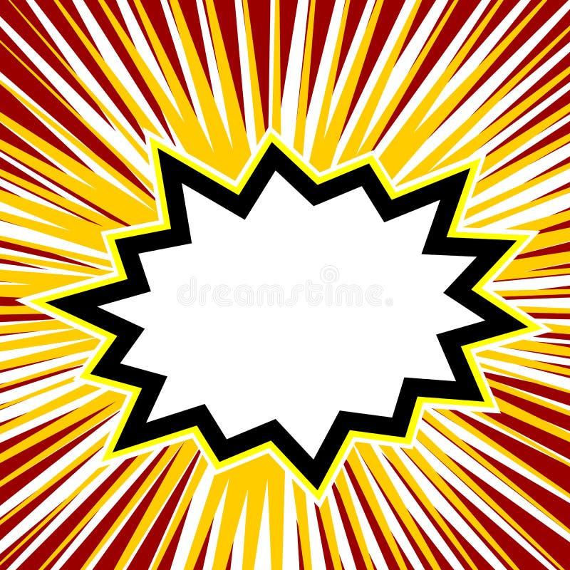 Κενή κωμική λεκτική φυσαλίδα έκρηξης ελεύθερη απεικόνιση δικαιώματος