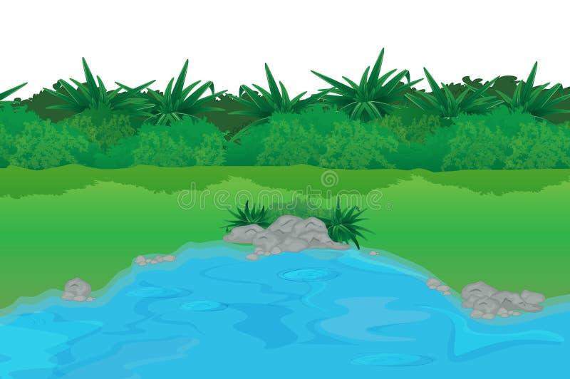 κενή λίμνη διανυσματική απεικόνιση