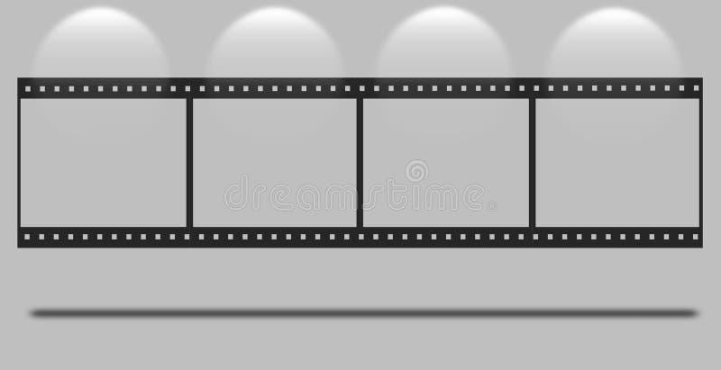 Κενή λουρίδα ταινιών διανυσματική απεικόνιση