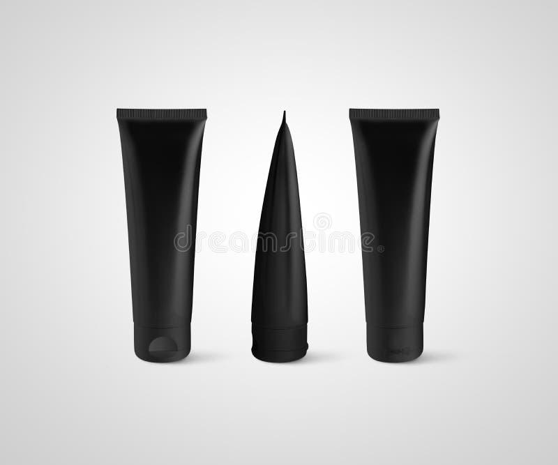 Κενή μαύρη σωλήνων σχεδίου πλάγια όψη σχεδιαγράμματος προτύπων μπροστινή πίσω στοκ φωτογραφία με δικαίωμα ελεύθερης χρήσης