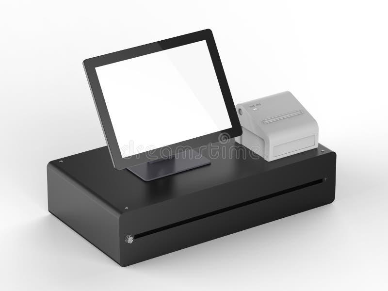 Κενή μηχανή ταμιών οθόνης διανυσματική απεικόνιση