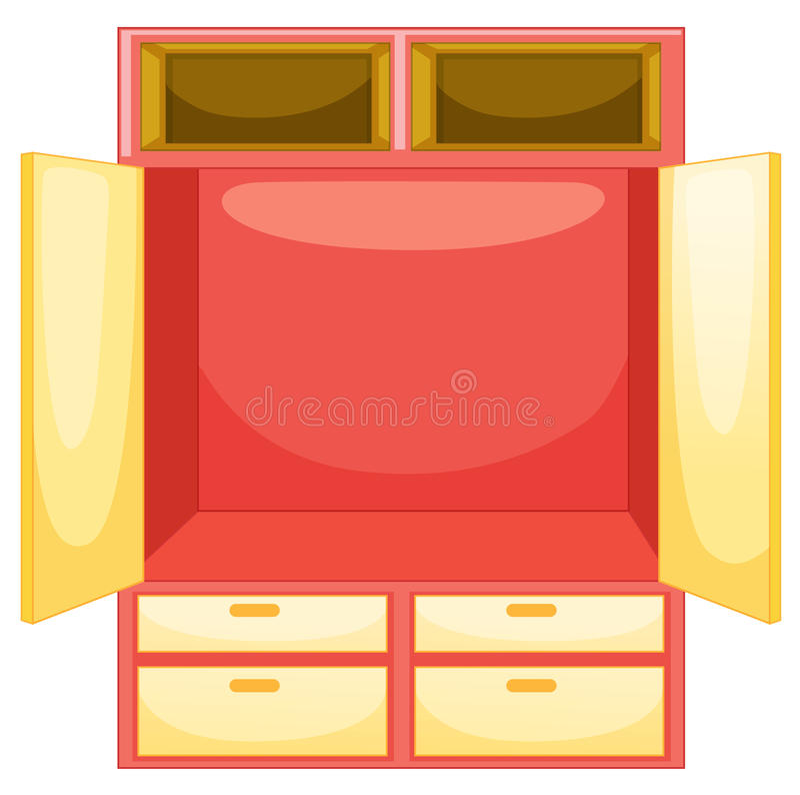 κενή ντουλάπα διανυσματική απεικόνιση