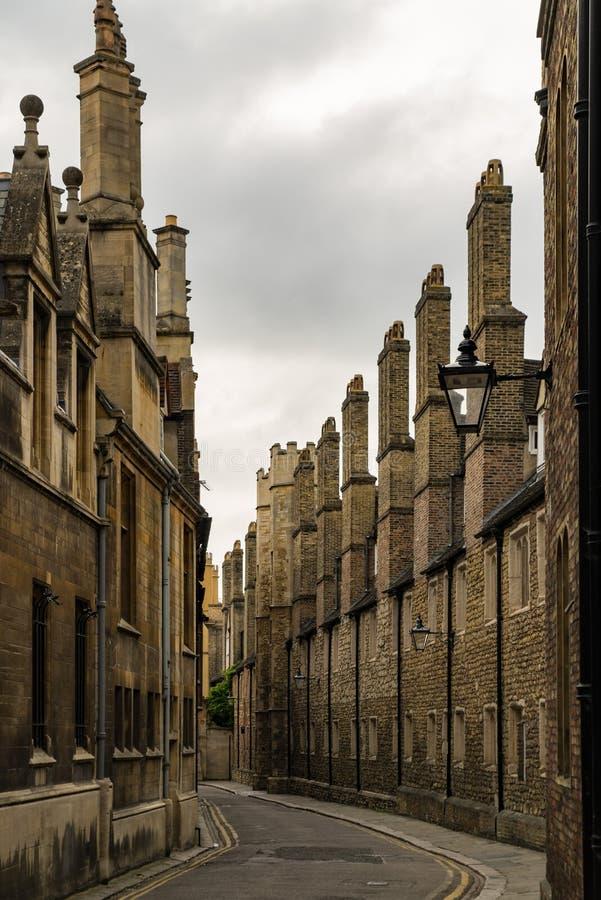 Κενή οδός στο Καίμπριτζ, UK στοκ φωτογραφία