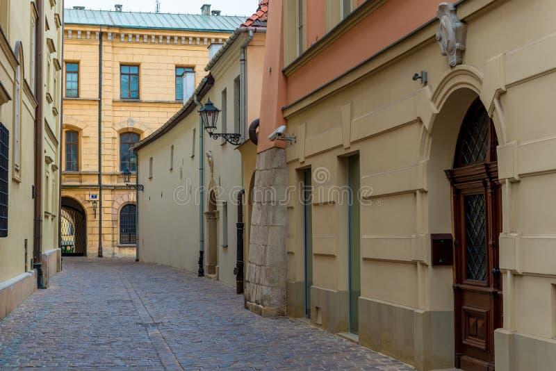 Κενή οδός της παλαιάς πόλης στοκ φωτογραφία