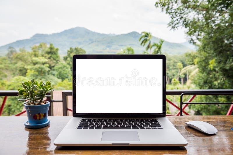 Κενή οθόνη του lap-top στοκ φωτογραφίες με δικαίωμα ελεύθερης χρήσης