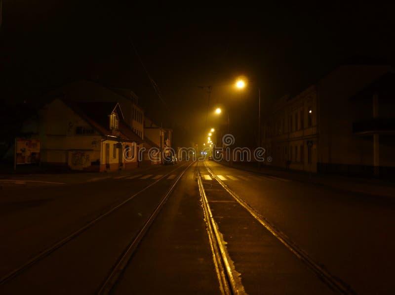 κενή οδός νύχτας στοκ φωτογραφίες