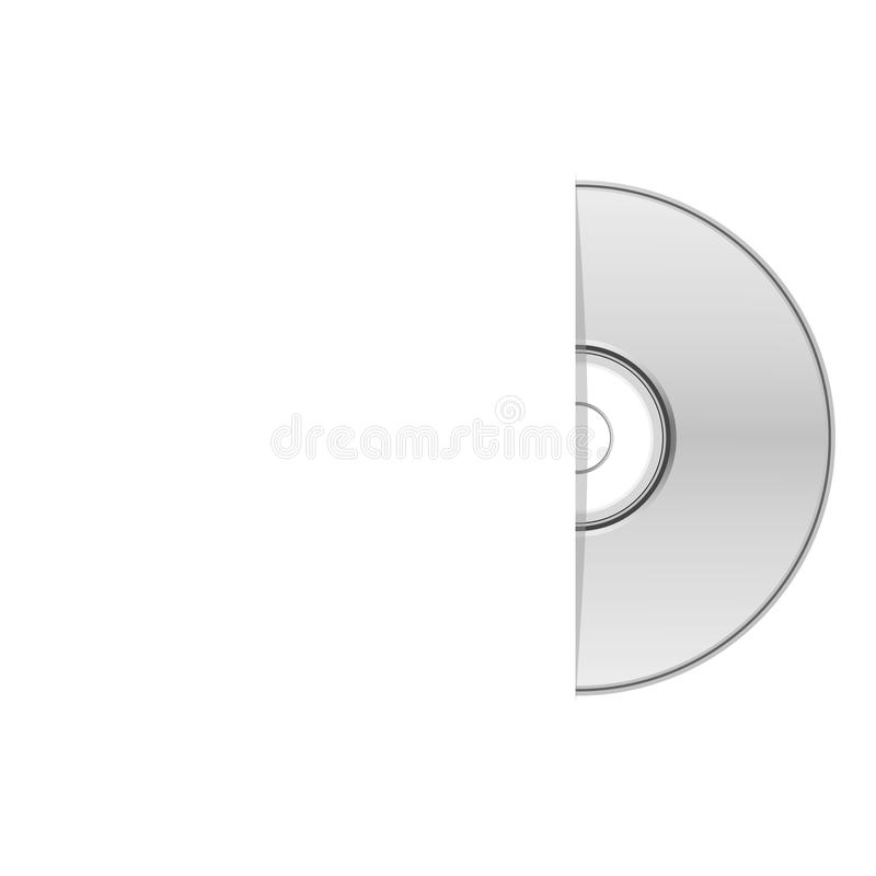 Κενή περίπτωση dvd, μισό Cd απεικόνιση αποθεμάτων